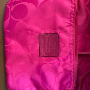 Coach Bags - Coach bright pink purse with snap in smaller bag